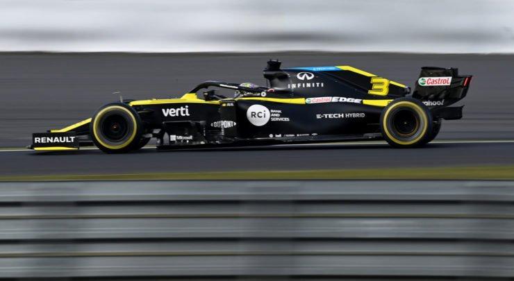 Renault F1's Daniel Ricciardo in action at the Eifel GP