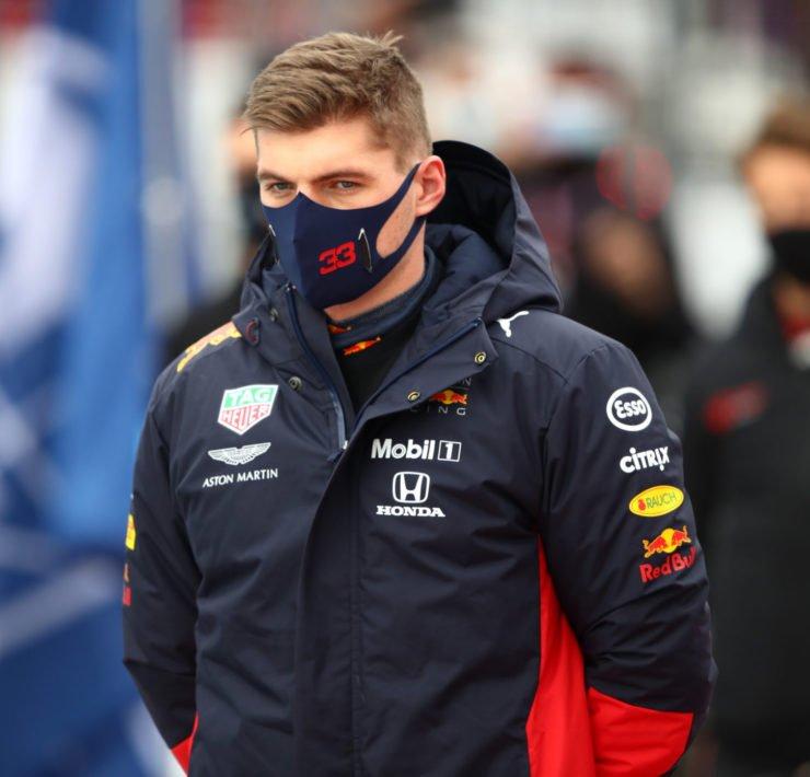 Red Bull's Max Verstappen looks on before the Eifel GP