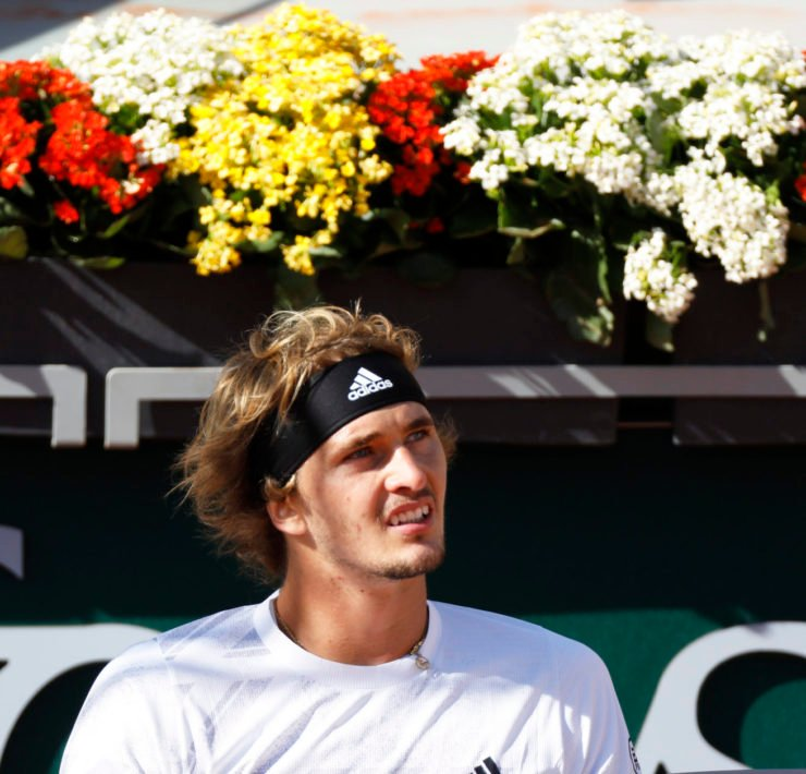 Alexander Zverev during his French Open 2020 match