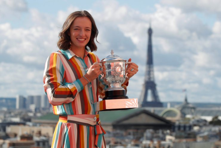 Iga Swiatek at French Open 2020