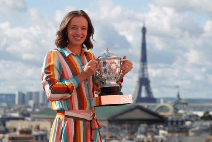 伊Swiatek在法国网球公开赛2020