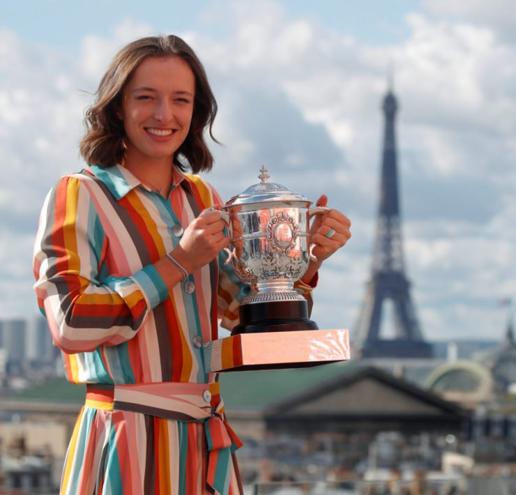 Iga Swiatek at French Open 2020