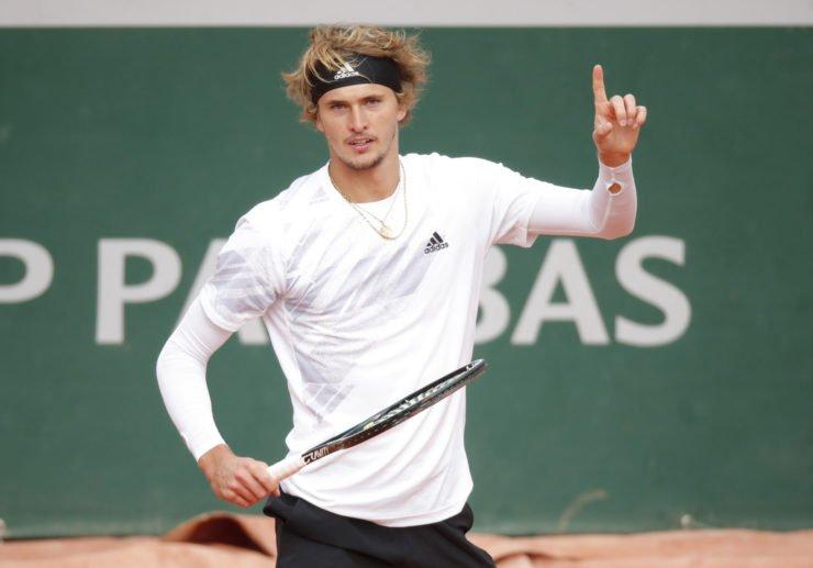 Alexander Zverev in action in the French Open 2020