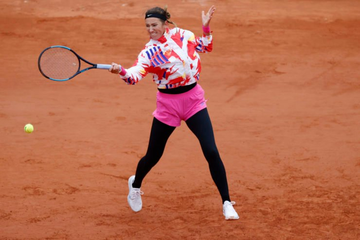 Victoria Azarenka in action in the French Open 2020