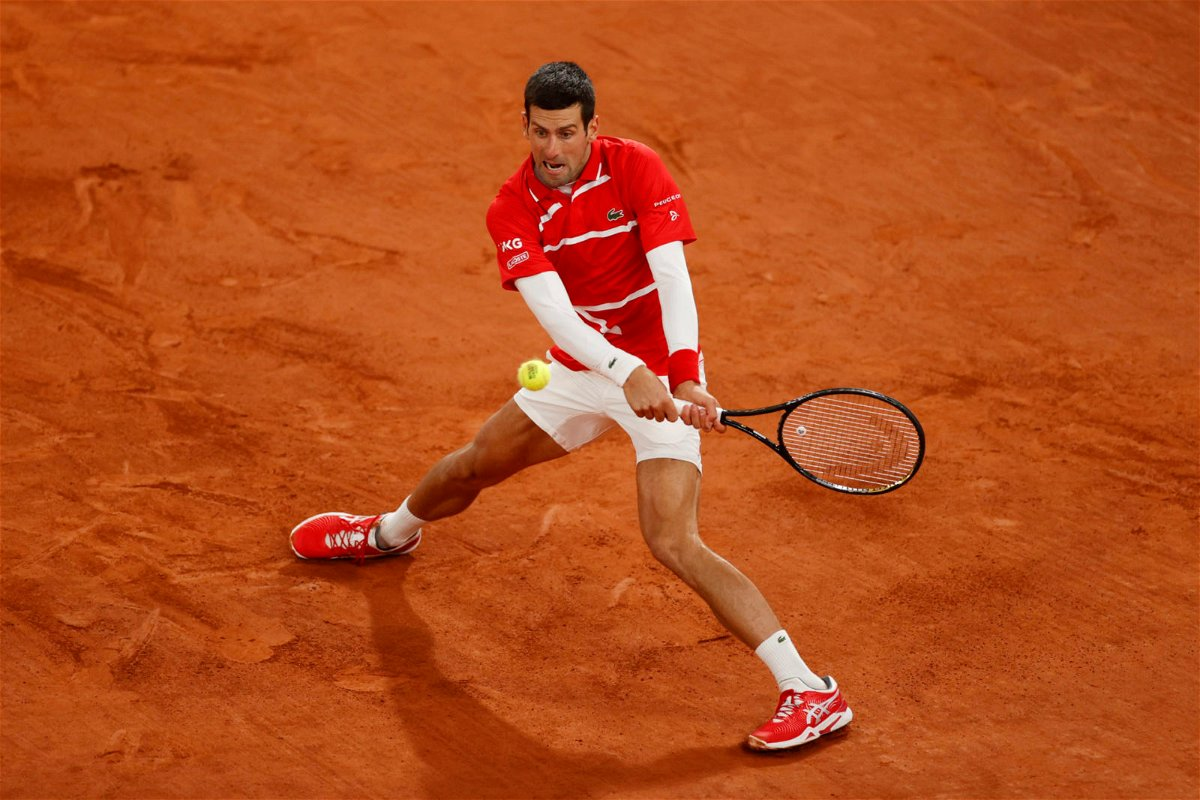 Novak Djokovic at French Open