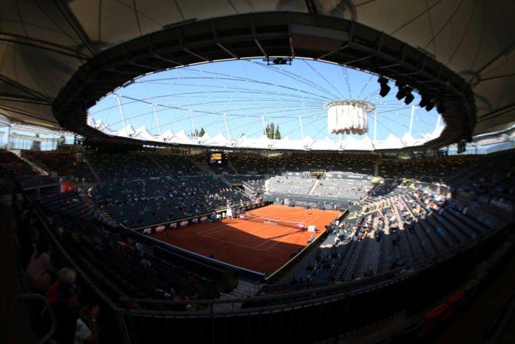 A tennis court in an ATP Tour