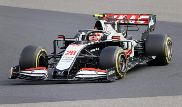 Haas' Kevin Magnussen during the Eifel GP race
