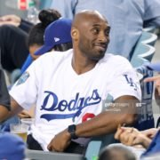 Lakers' Kobe Bryant cheering for LA Dodgers