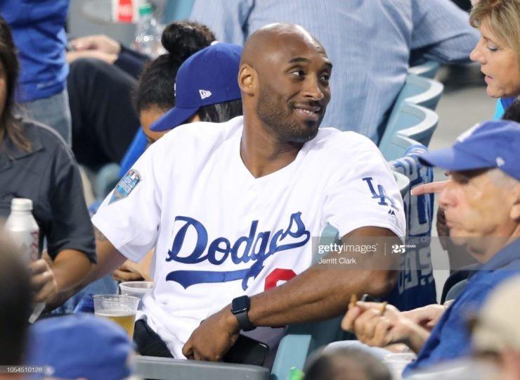 Lakers' Kobe Bryant cheering for LA Dodgers