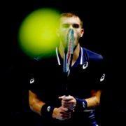 Borna Coric in focus mode during the final of St Petersburg Open 2020