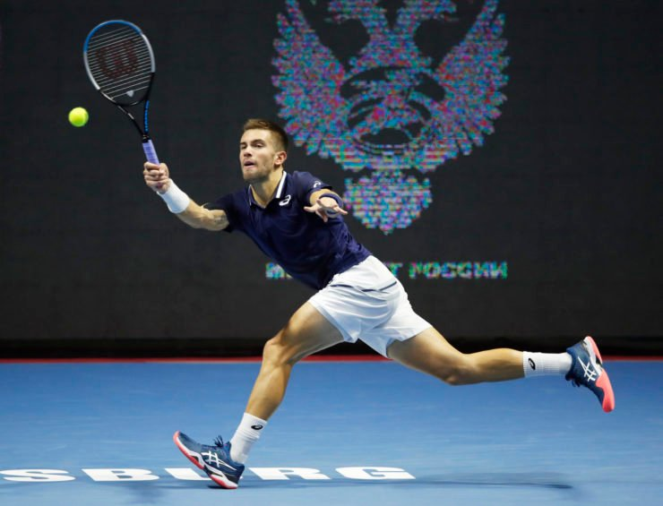 Borna Coric at St Petersburg Open