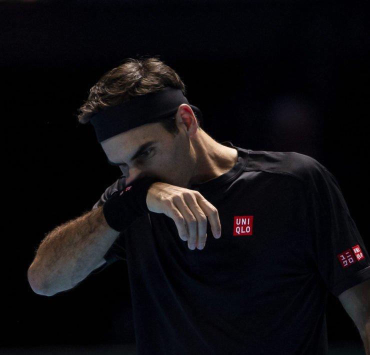 Roger Federer sad