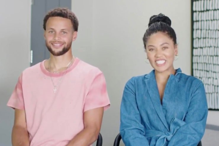 Stephen Curry with his wife, Ayesha Curry