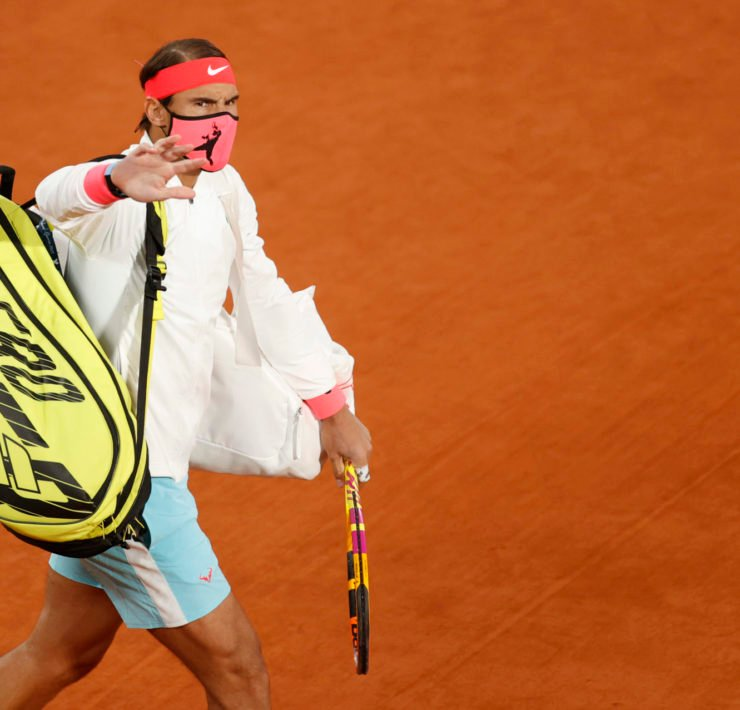 French Open 2020 - Roland Garros, Rafael Nadal taking the court before the final