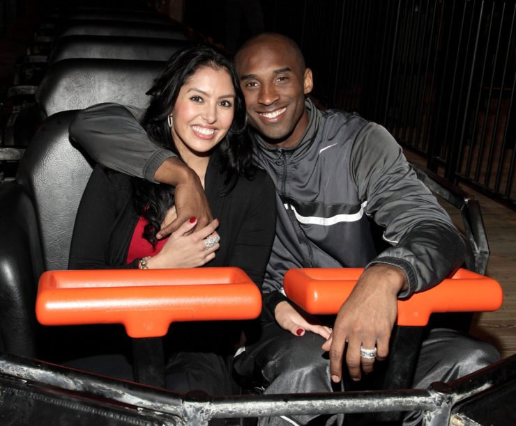 Kobe Bryant with his wife Vanessa Bryant