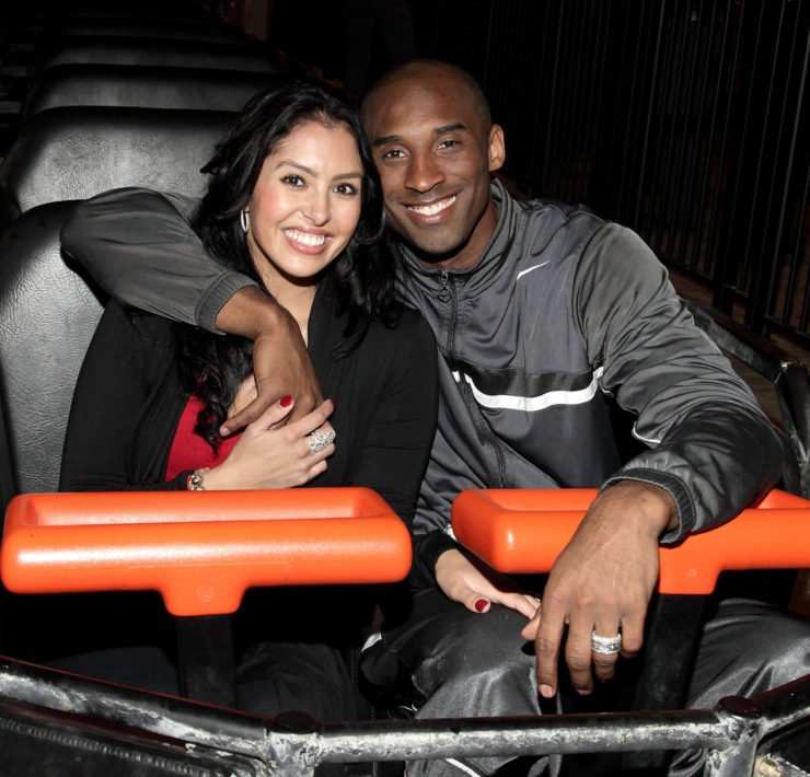 Kobe Bryant with his wife Vanessa Bryant