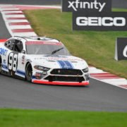 Chase Briscoe in action during the NASCAR Xfinity Series race at the Charlotte Roval