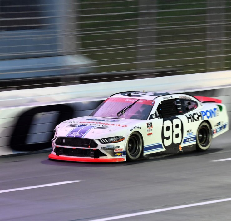 Chase Briscoe drives during the NASCAR Cup Series race at the Charlotte Roval