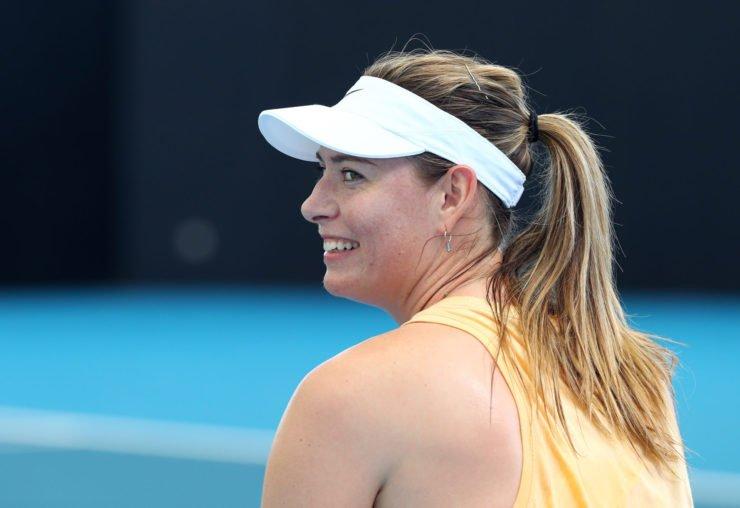 Maria Sharapova smiling at 2020 Brisbane International