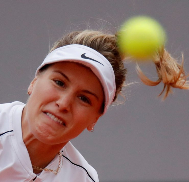 Eugenie Bouchard at the French Open 2020