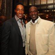 NBA legends Michael Jordan and Scottie Pippen