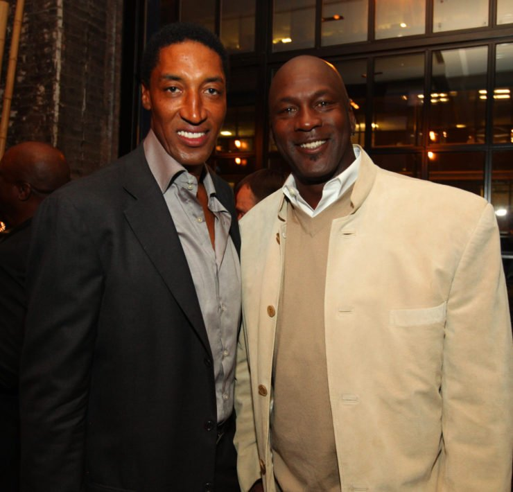 NBA legends Michael Jordan and Scottie Pippen