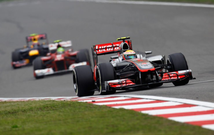 Lewis Hamilton in action during the Chinese GP 2012