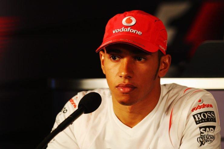 Lewis Hamilton in the 2007 Brazil GP press conference