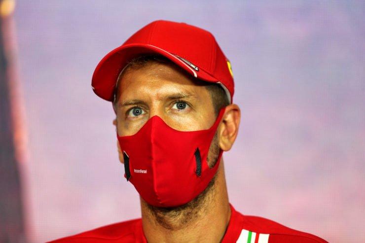 Sebastian Vettel during the Spanish GP press conference