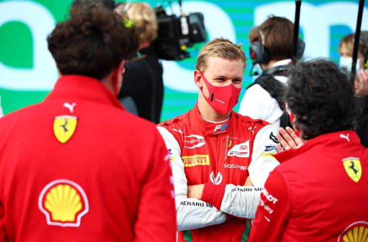 Mick Schumacher after the F2 Hungarian Grand Prix race
