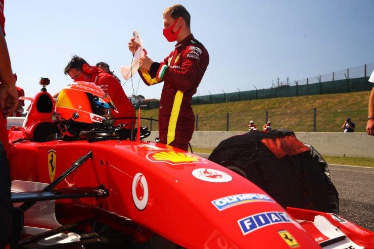 Mick Schumacher ahead of the Tuscany Grand Prix
