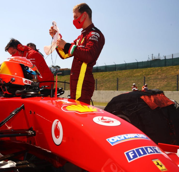 Mick Schumacher ahead of the Tuscany Grand Prix