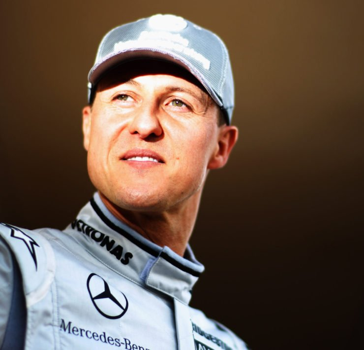 Michael Schumacher in a Mercedes suit ahead of the race in Bahrain