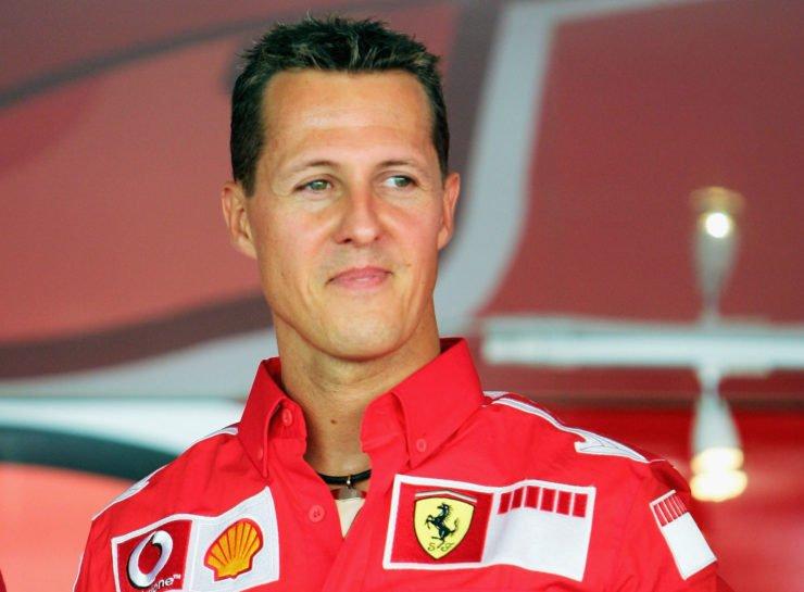 Michael Schumacher at the Italian Grand prix 2005