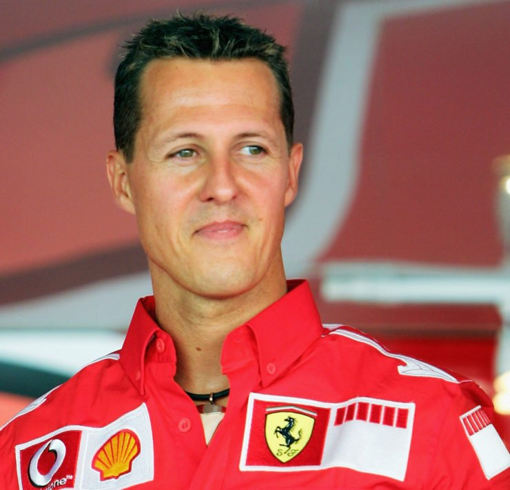 Michael Schumacher at the Italian Grand prix 2005