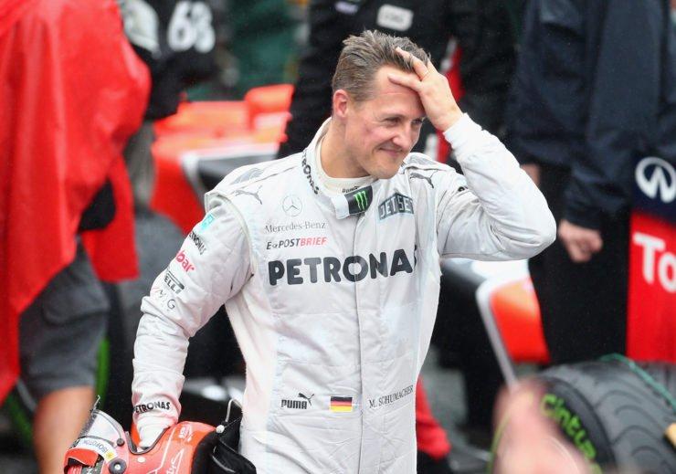 Michael Schumacher after the F1 race in Brazil