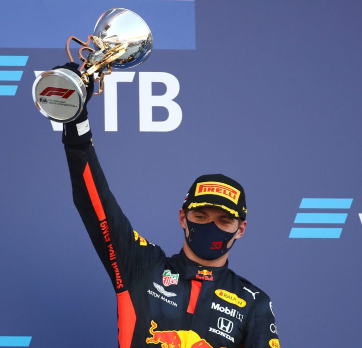 Max Verstappen celebrating a win