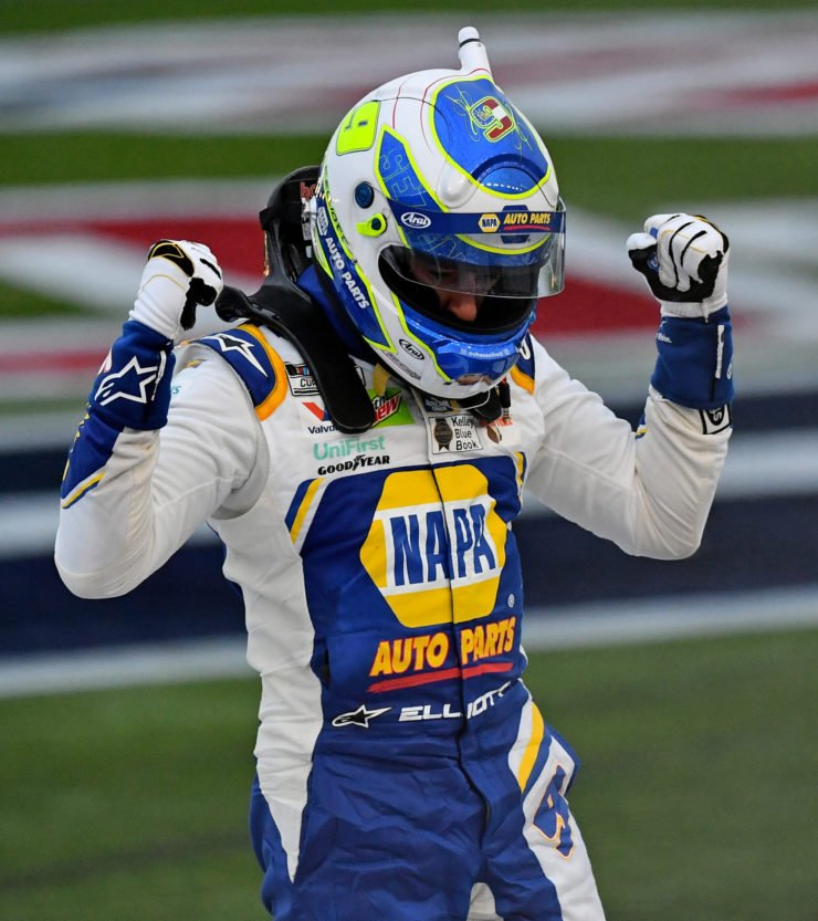 Chase Elliott celebrates