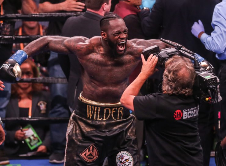 Deontay Wilder Screaming