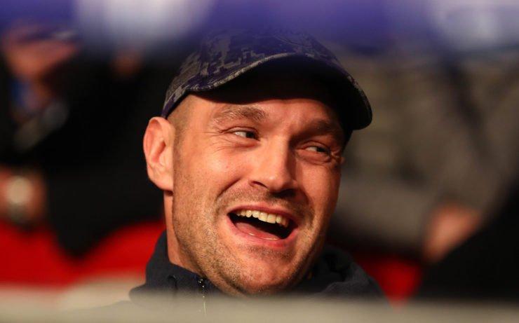 Tyson Fury laughing