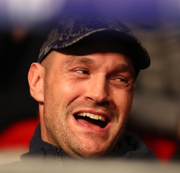 Tyson Fury laughing