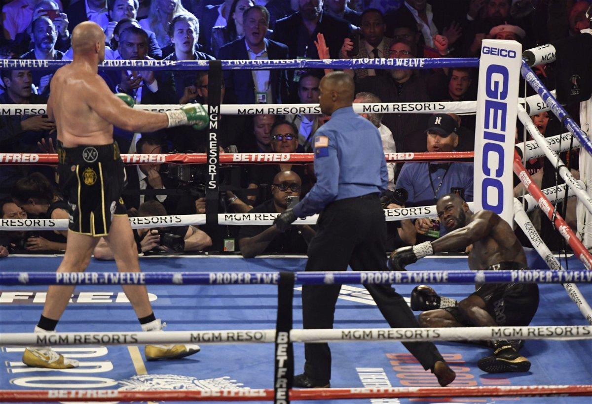 Tyson Fury drops Deontay Wilder