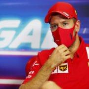 Sebastian Vettel at a press conference in Portugal