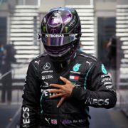 F1-Lewis Hamilton wearing helmet with visor