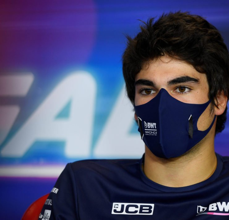 Lance Stroll during the Portuguese GP press conference