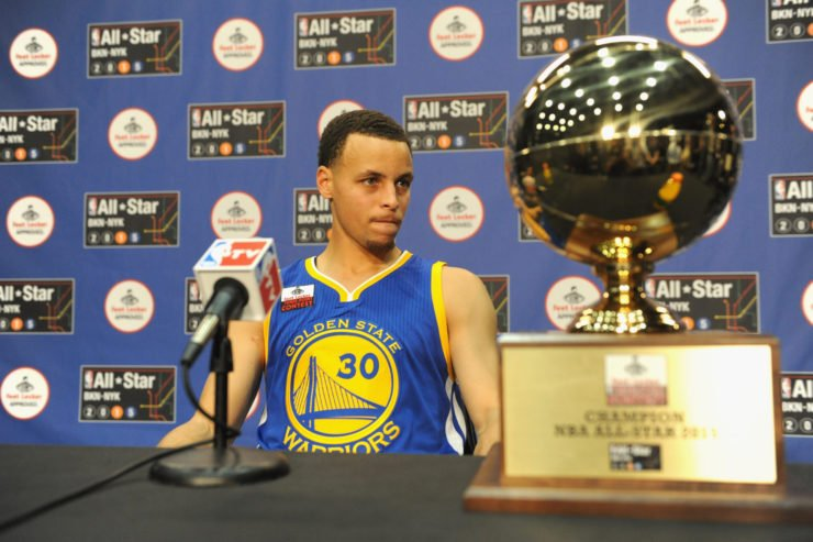 Steph Curry of Golden State Warriors