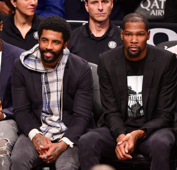 Brooklyn Nets superstars Kevin Durant and Kyrie Irving