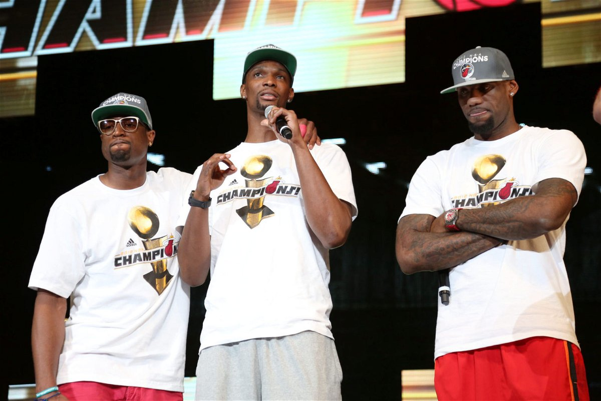 Miami Heat superstars LeBron James, Chris Bosh, Dwayne Wade