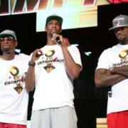 Miami Heat superstars LeBron James, Chris Bosh, Dwayne Wade