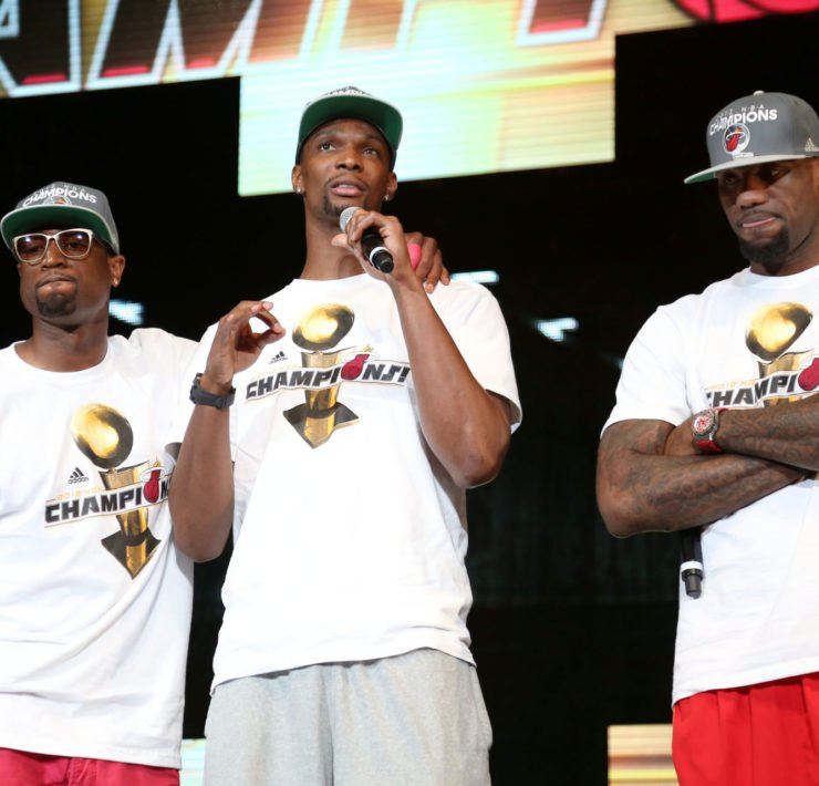 Miami Heat - Chris Bosh, LeBron James, Dwayne Wade
